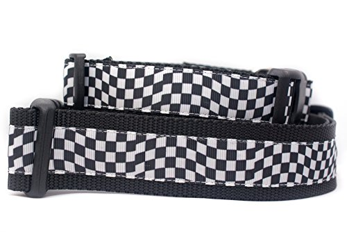 Checkered Nylon Adjustable Collars - Race Flag Dog Collar 1