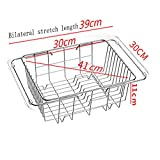 Dishwasher sink drain rack sink drain basket stainless steel kitchen sink basket leak pool shelf household items XUMINGLSJ (Size : C)