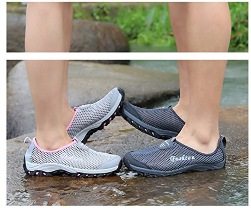 de Mujer de Mujeres Malla de Libre de Zapatos Libre Deporte Zapatos Casual Mocasines Aire Las Señoras atlético Entrenador Transpirables Gris Chicas Aire Zapatillas al para Deportes y Moda q5Axv8