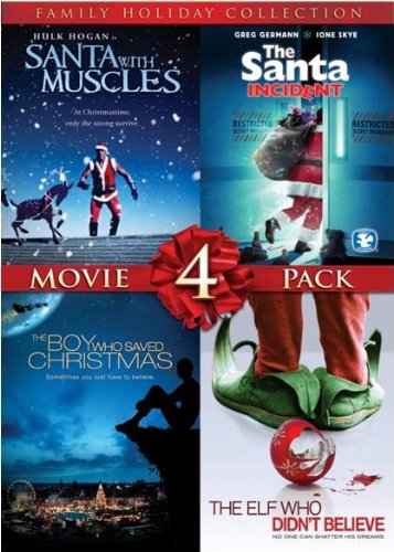 4 Film Family Holiday Movie Collection (Santa With Muscles / The Santa Incident / The Boy Who Saved Christmas / The Elf Who Didn't Believe) ()