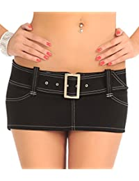 LinvMe Women's Sexy Low Waist Package Hip Mini Skirt