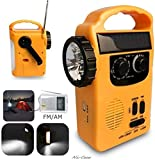 Portable Solar Powered AM/FM Radio with LED