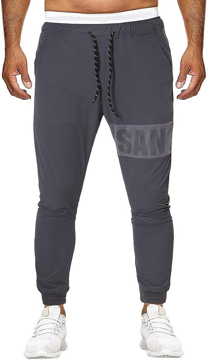 MXJEEIO Pantalones Largos Hombre Casual Deportivos de ...