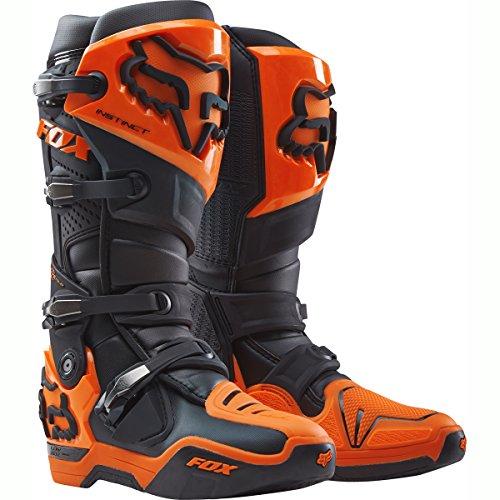 Fox Racing Instinct Men's Off-Road Motorcycle Boots - Black/Orange / Size (Orange Patent Footwear)