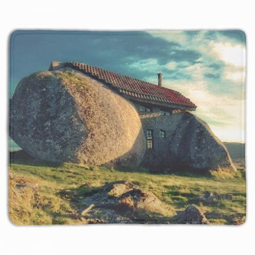 Rock Houses Stones Vintage Art Non-Slip Rubber Mousepad Gaming Mouse Pad Mat