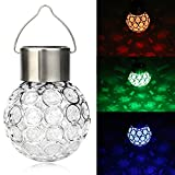 Glumes Solar Light Bulb, Multi-color 5 LED Hanging Indoor Outdoor Decoration for Christmas Party Wedding Holiday Birthday Garden Patio Bedroom -American Warehouse Shipment (Multi-color)