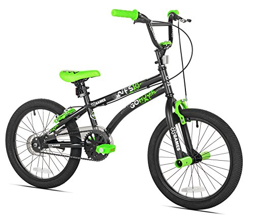 X-Games FS-18 BMX/Freestyle Bicycle, 18-Inch, Black/Green (18inch Boys Bicycle)