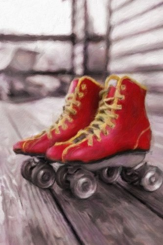 Download Red Roller Skates - Lined Notebook with Margins: 101 Pages, Medium Ruled, 6 x 9 Journal, Soft Cover ebook