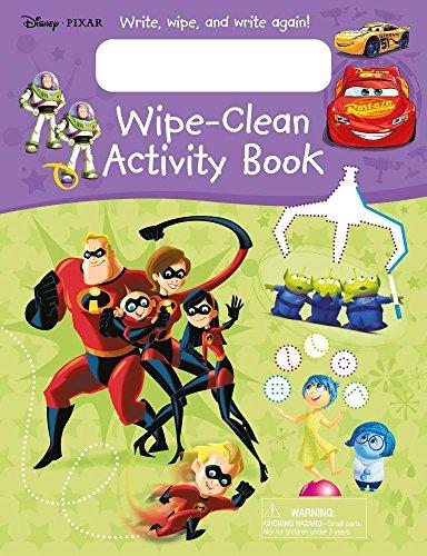 Disney Pixar Wipe-Clean Activity Book: Write, Wipe, and Write Again!