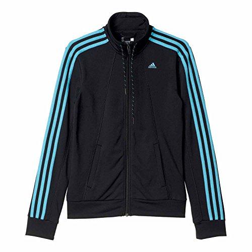 adidas Damen Essentials 3-Stripes Track Suit Trainingsanzug, Black/Vapblu, XL