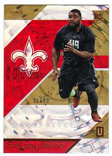 2016 Panini Unparalleled Red SP Pattern /49 RC #191 Sheldon Rankins Saints