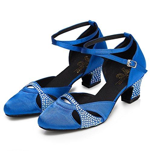 Tanzschuhe Blau 35 Damen Minitoo Größe PqfUU5