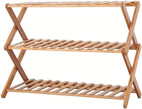 Bamboo Foyer Shelf Shelf Rack Stand Storage Bench Shoes ...