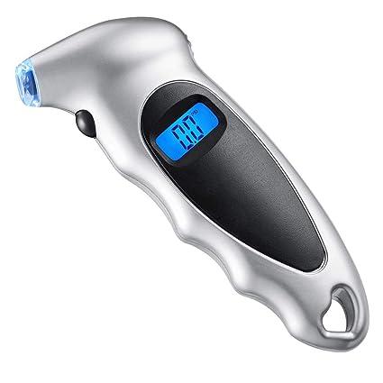 Scelet Medidor de presión de neumáticos Digital Detector de presión de Pantalla Digital retroiluminada con empuñadura
