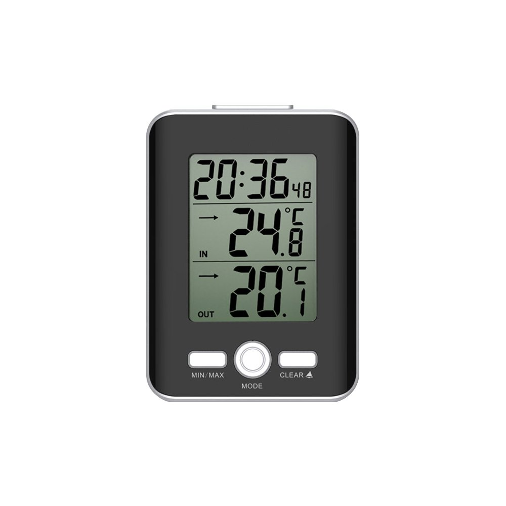 GAOAG Indoor and outdoor thermometers- Digital Thermometer Clock with Wired Temperature Sensor with Snooze and alarm function…