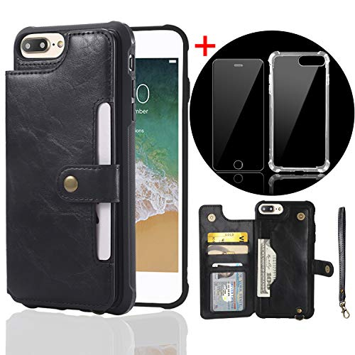 bangcool Iphone 8 Plus Wallet Case Credit Card Holder Case