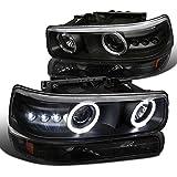 Spec-D Tuning 2LBLHP-SIV99JM-RS Black Projector Headlight (Combo Housing With Bumper Light)
