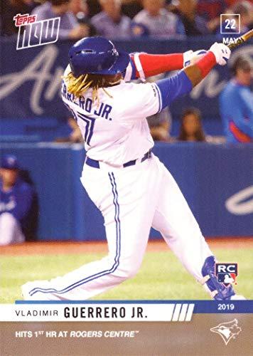 (2019 Topps Now Baseball #262 Vladimir Guerrero Jr. Rookie Card - Hits 1st Home Run at Home Ballpark - Only 2,197 made!)