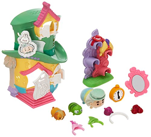 Amazon.com: Tsum Tsum Disney Mad Hatters Hat Shop Set Miniature Toy Figures: Toys & Games