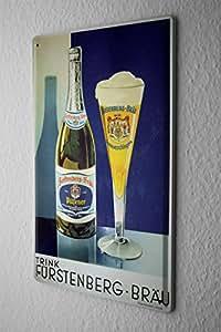 """Beer Tin Sign Retro Deco Fürstenberg Retro Advertising Fun Party Room Wall Vintage Decoration 8X12"""""""