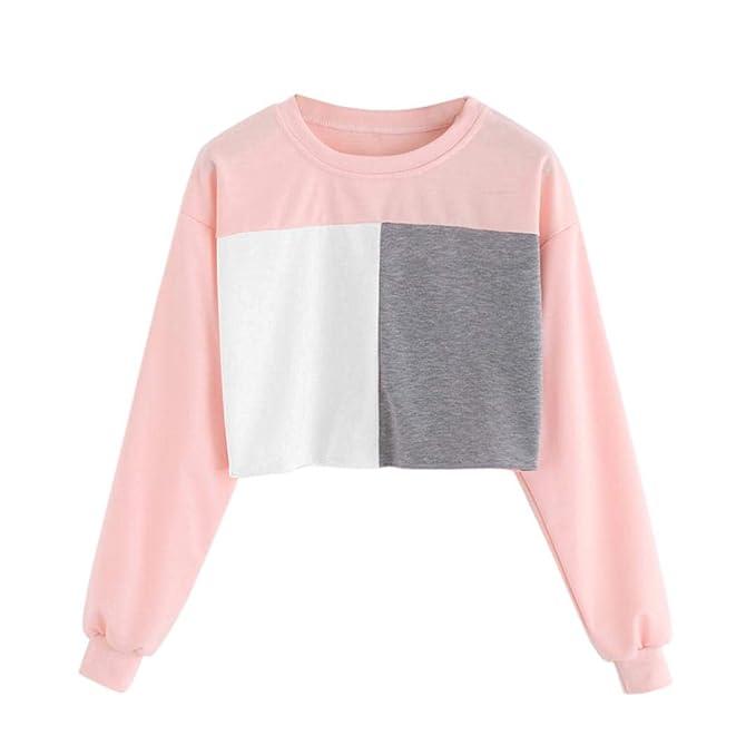 MEIbax Oto?o de Las Mujeres de Color Informal de Manga Larga SušŠter Dama Costura Blusa Casual Blusa Tops Camisetas para Personalizar Camiseta Promocional ...