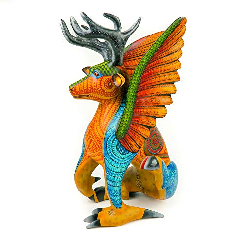 Amazoncom Deer Eagle Fusion Masterpiece Oaxacan Alebrije Wood