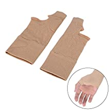 Therapy Gloves Gel Filled Thumb Hand Wrist Support Arthritis Compression, Everyday Support for Hands- One Pair