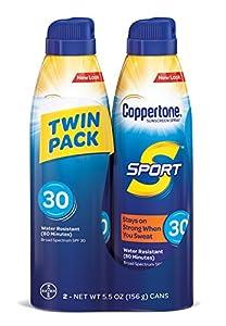 Coppertone SPORT Continuous Sunscreen Spray Broad Spectrum SPF 30