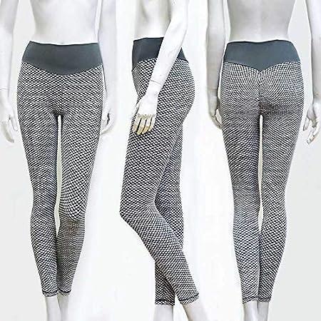 Dastrues Womens High Waist Textured Yoga Pants Wrinkled ...