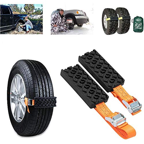 Grizack 2 Pcs Car Tire Anti-Skid Block Vehicle Emergency Snow Chain