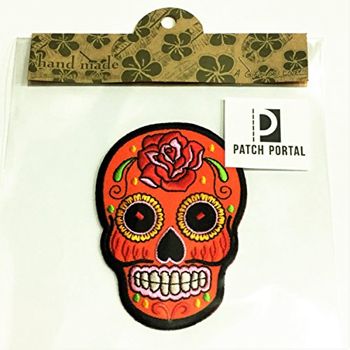 Patch Portal Orange Mexican Sugar Skull Decor Candy 3.5
