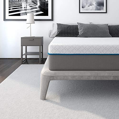 """Signature Sleep Mattress, Flex 10"""" Charcoal Gel Memory Foam Mattress, Queen Size Mattress"""