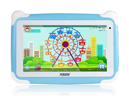 Fusion5 7″ KD095 Kids Tablet PC – 64-bit Quad-core, Android 8.1 Oreo, WiFi, Parental Controls, Kids Learning Tools, 32GB Storage, Dual Cameras, Kids apps, Tablet PC for Kids (Blue)