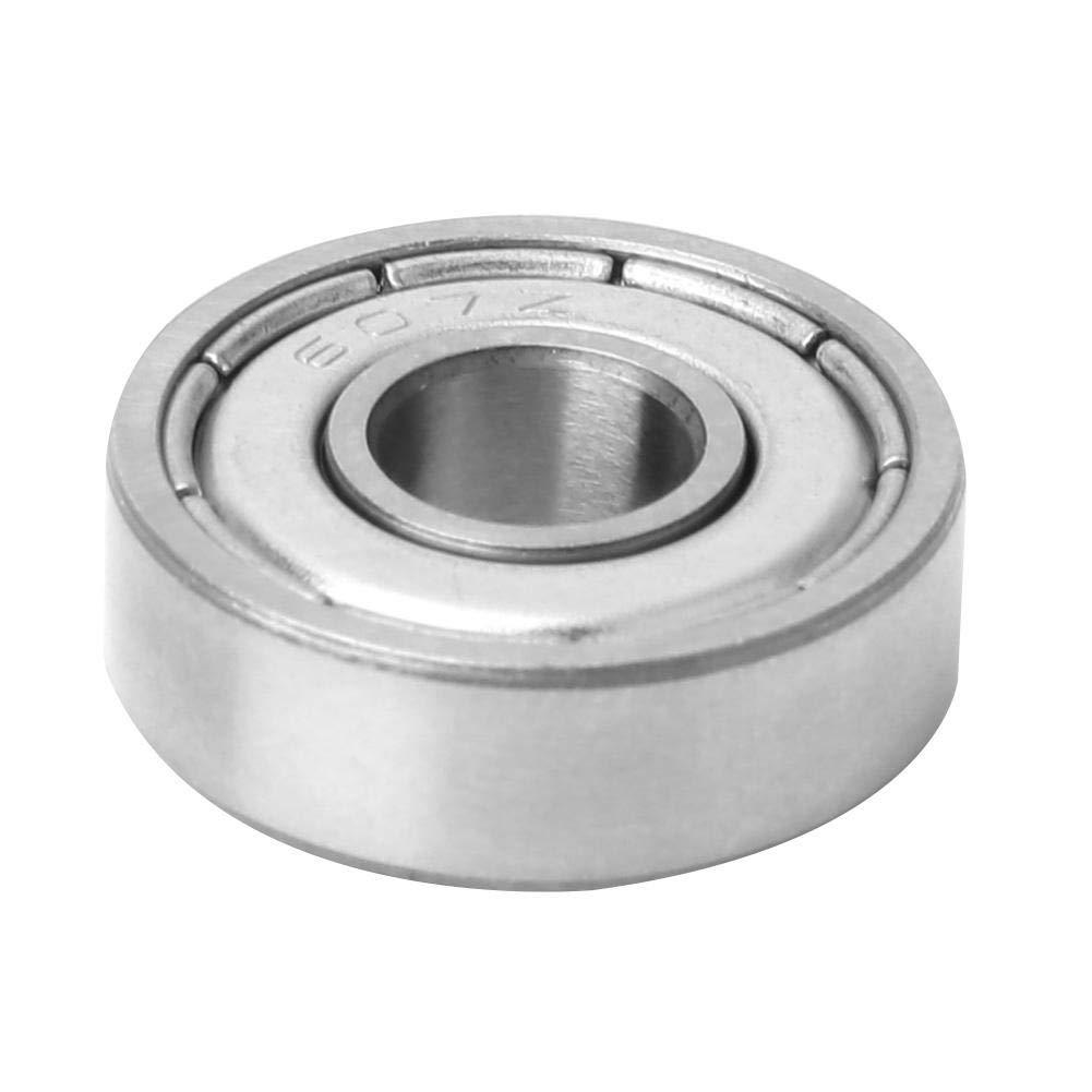 (607-zz) Set di cuscinetti a sfera in metallo a doppia scanalatura ad alta velocit/à universale Liukouu da 10 pezzi