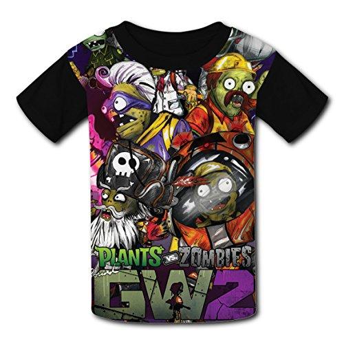 Price comparison product image ASD JKL Plants_vs_Zombies_GW2 Vogue 3D Printing Children's T-Shirt