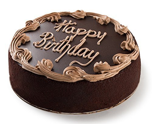 "David's Cookies Chocolate Fudge Birthday Cake, 7"" (Special Gift Delivery)"