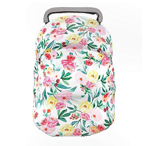 Nursing Cover Breastfeeding Scarf-Car Seat Covers for Babies, Multi Use Nursing Scarf, Baby Girls Shower Gifts, Super Soft Milk Silk