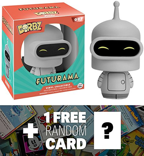 Bender: Funko Dorbz x Futurama Mini Vinyl Figure + 1 FREE American Cartoon Themed Trading Card Bundle (072049)