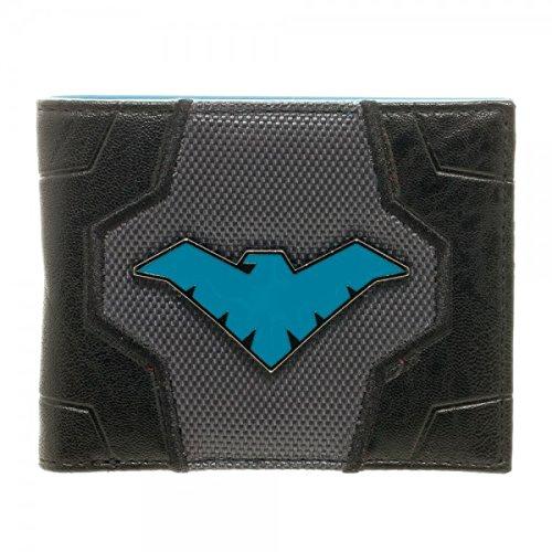 DC COMICS Nightwing Metal Badge Logo Bi-Fold Gift Boxed Wallet NEW