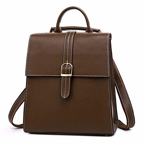 Fashion 2 coffee Backpack Handbags Womens Trends Cowhide Bag Crossbody Cowhide Fashion Black HopeEye gnPz7xSg