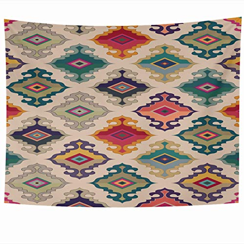 - Ahawoso Tapestry 80x60 Inches Turkish Oriental Carpet Antique Ethnic Floral Geometric Mongolian Ornamental Currier Wall Hanging Home Decor Tapestries for Living Room Bedroom Dorm