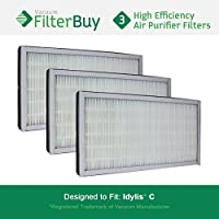 3 - Idylis Air Purifier Filters C. Idylis IAF-H-100C. Designed by FilterBuy to fit Idylis IAP-10-200 & IAP-10-280.