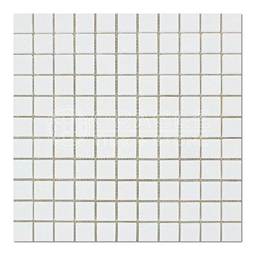 Thassos White Greek Marble 1 X 1 Mosaic Tile, Polished -