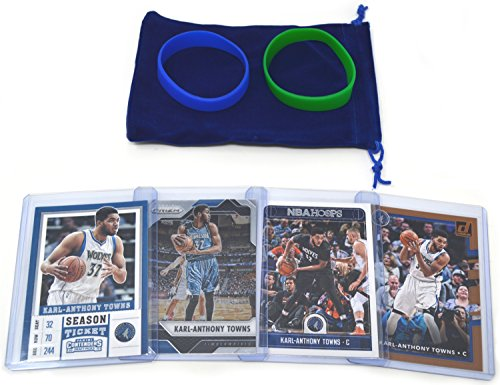- Karl-Anthony Towns Basketball Cards Assorted (4) Bundle - Minnesota Timberwolves Trading Cards