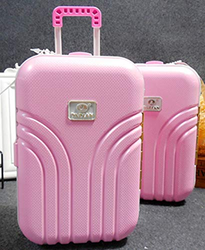 (Creative Piggy Bank Suitcase Model Piggy Bank Pink Small Money Box for Girl Birthday Gift for Kids Coin Candy Card Container)
