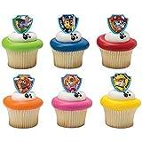DecoPac Paw Patrol Ruff Ruff Rescue Cupcake Rings, Pack of 24 Assorted Rings