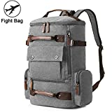 Backpacks for Men, Yousu Fashion Canvas Travel Duffel Backpack Large Capacity Rucksack Outdoor Casual Daypack (Grey)