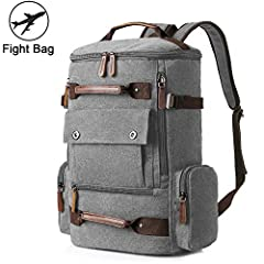 Measurements - Size: 11.8'' L x 6.7'' W x 18'' H / 30 * 17 * 46cm - Net Weight: 2.4 pounds Structure - Interior: One laptop compartment, two small open pockets - Closure Type: Zipper - Gender: Men & Women - Style: Fashion - Main Material:...
