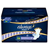 Always Maxi Overnight, Extra Heavy (54 ct.) (pack of 6)