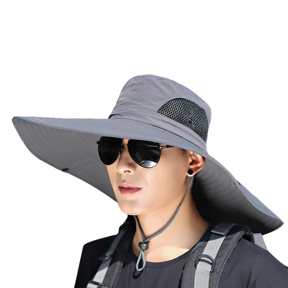 EverGreenPro Sombrero Verano de Senderismo Plegable con Protecci/ón UV Sombrero Transpirable ala Ancha de Pesca Gorra para Hombres y Mujeres